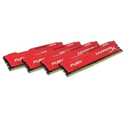 HyperX Fury Rouge 32 Go (4x8Go) DDR4 2666 MHz CL16