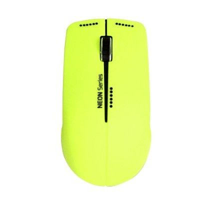 Port Connect Neon Wireless Mouse - Jaune