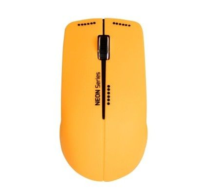 Port Connect Neon Wireless Mouse - Orange
