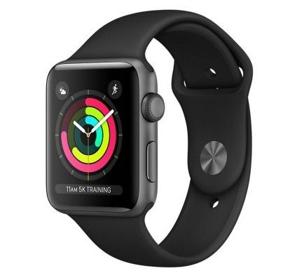 Apple Watch Series 3 GPS Aluminium Gris Sport Noir 42 mm