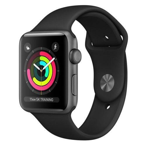 Apple Watch Series 3 GPS Aluminium Gris Sport Noir 42 mm