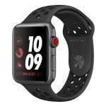 Apple Watch Nike+ Series 3 GPS + Cellular Aluminium Gris Sport Anthracite/Noir 42 mm