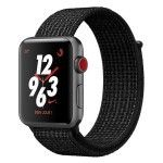 Apple Watch Nike+ Series 3 GPS + Cellular Aluminium Gris Sport Noir/Platine 42 mm