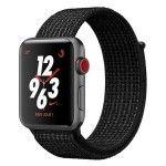 Apple Watch Nike+ Series 3 GPS + Cellular Aluminium Gris Sport Noir/Platine 38 mm