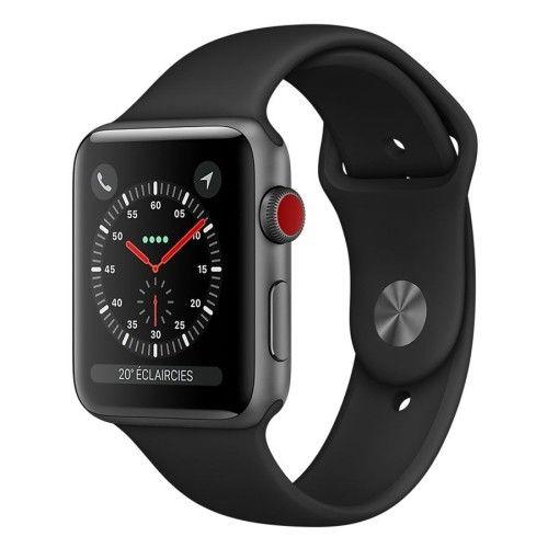 Apple Watch Series 3 GPS + Cellular Aluminium Gris Sport Noir 42 mm