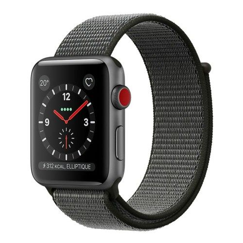 Apple Watch Series 3 GPS + Cellular Aluminium Gris Sport Olive 38 mm