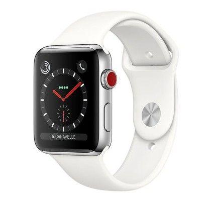 Apple Watch Series 3 GPS + Cellular Acier Sport Coton 38 mm