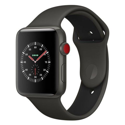 Apple Watch Edition Series 3 GPS + Cellular Céramique Gris Sport Gris/Noir 42 mm