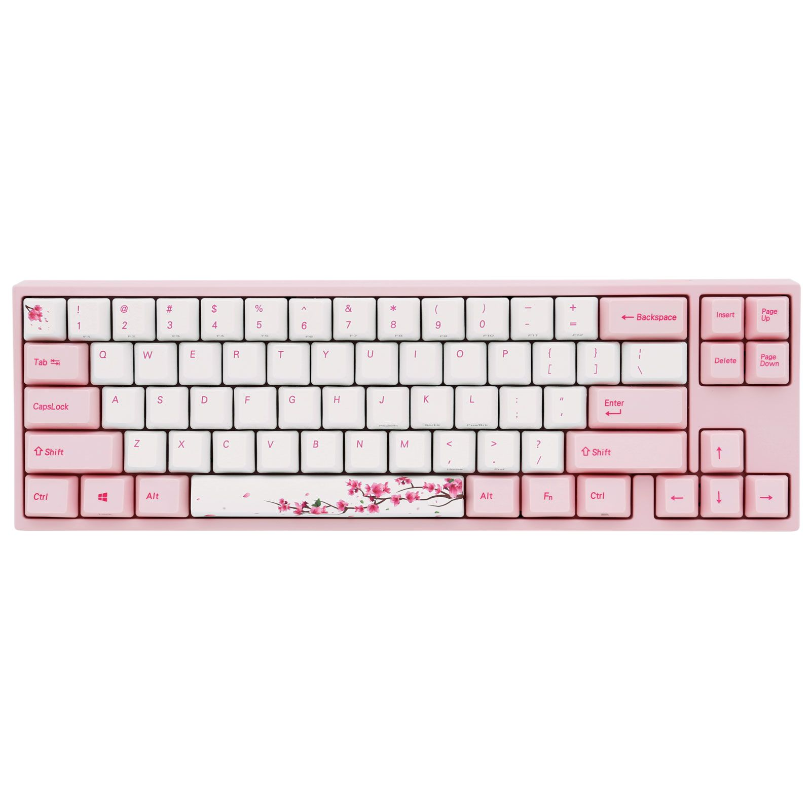 Ducky Channel x Varmilo MIYA Pro Sakura Edition (coloris rose - MX Red - LEDs rose - touches PBT)