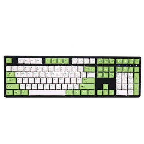 Ducky Channel One Dye-sub (coloris vert/blanc - MX Brown - touches PBT)