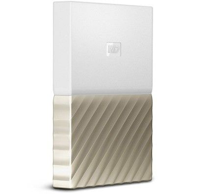 WD My Passport Ultra 2 To Blanc-Doré (USB 3.0) - WDBFKT0020BGD-WESN
