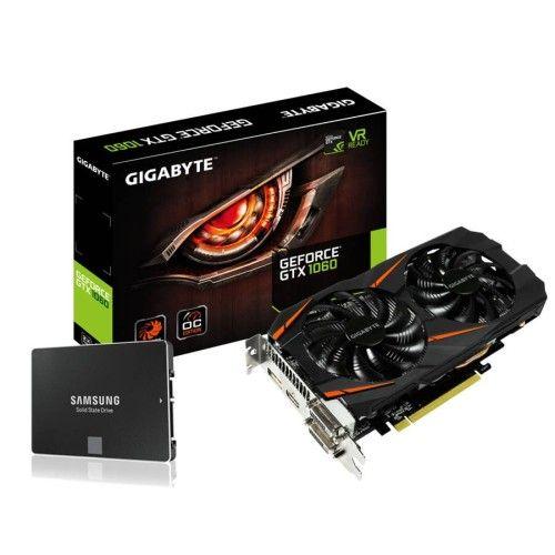 Gigabyte GeForce GTX 1060 WindForce OC - 6 Go