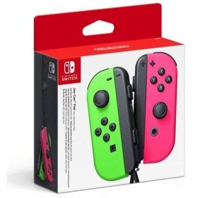 Nintendo Switch Joy-Con Droit & Gauche Vert/Rose Néon