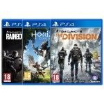 Rainbow Six : Siege + The Division + Horizon Zero Dawn (PS4)