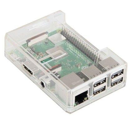 JOY-iT boîtier pour Raspberry Pi 3/2/1 (transparent) - RB-CASE+15