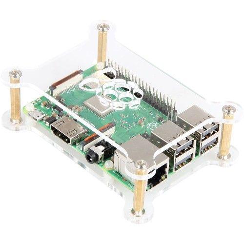 JOY-iT boîtier ouvert pour Raspberry Pi 3/2/1 (transparent)