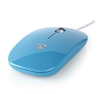NEDIS Wired Optical Mouse Bleu
