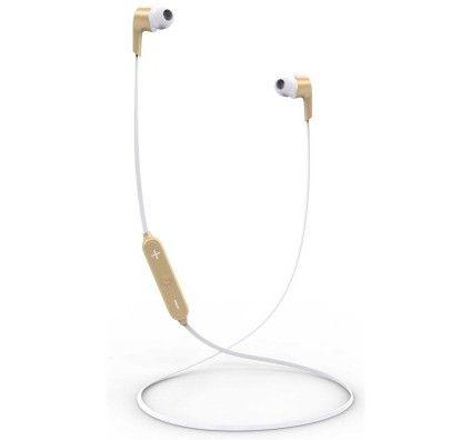 AKASHI Ecouteurs Bluetooth avec Micro Or