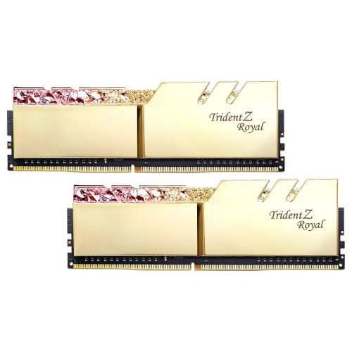 G.Skill Trident Z Royal 16 Go (2x8Go) DDR4 3600 MHz CL16 - Or - F4-3600C16D-16GTRG