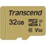 Transcend 32GB UHS-I U3 microSD avec Adaptateur  MLC mémoire flash