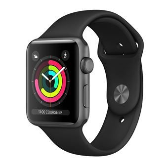 Apple Watch S3 : aluminium, bracelet noir à 249€