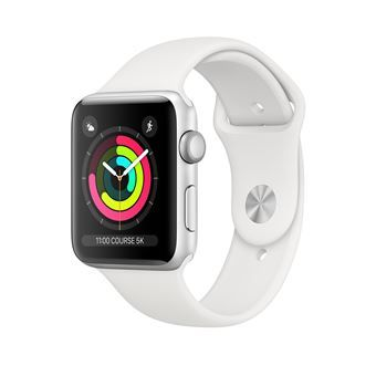 Apple Watch S3 : aluminium, bracelet blanc à 249€