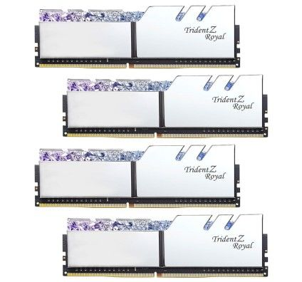 G.Skill Trident Z Royal 32 Go (4x8Go) DDR4 3200 MHz CL16 - Argent