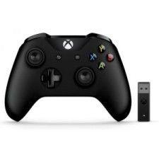 Manette Xbox One Microsoft Sans fil Noir + Adaptateur sans fil pour Windows 10