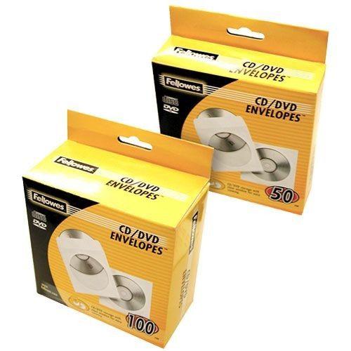 Fellowes 100 Enveloppes CD Papier