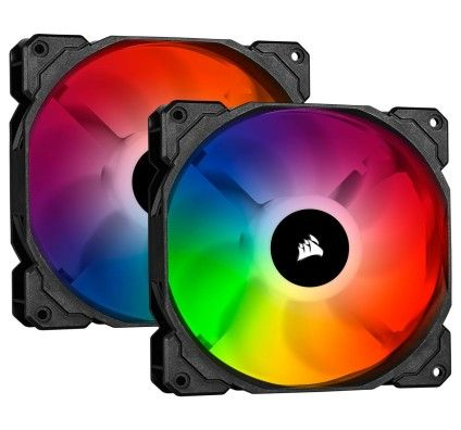 Corsair SP140 RGB PRO (x2) et Ligthning Node CORE