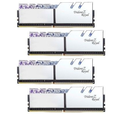 G.Skill Trident Z Royal 128 Go (4x32Go) DDR4 3600 MHz CL18 - Argent