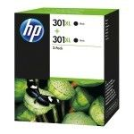 HP 301XL Pack de 2 Noir (D8J45AE)