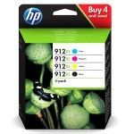 HP 912XL Pack de 4 Noir, Cyan, Magenta, Jaune (3YP34AE)