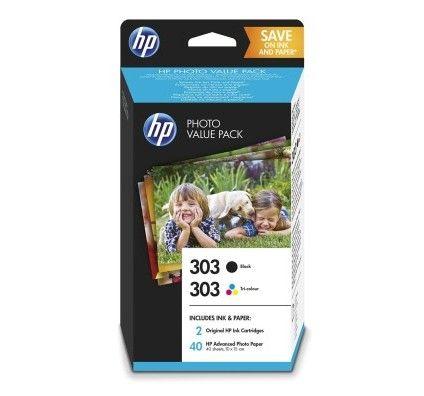 HP 303 Pack de 2 Noir/3 Couleurs (Z4B62EE)
