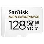 SanDisk High Endurance microSDXC UHS-I U3 V30 128 Go + Adaptateur SD