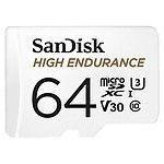 SanDisk High Endurance microSDXC UHS-I U3 V30 64 Go + Adaptateur SD