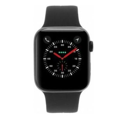 Apple Watch Series 4 - boîtier en aluminium gris 44mm - bracelet sport noir (GPS)