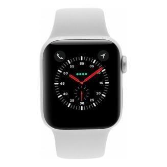 Apple Watch Series 4 - boîtier en aluminium argent 44mm - bracelet sport blanc (GPS+Cellular)