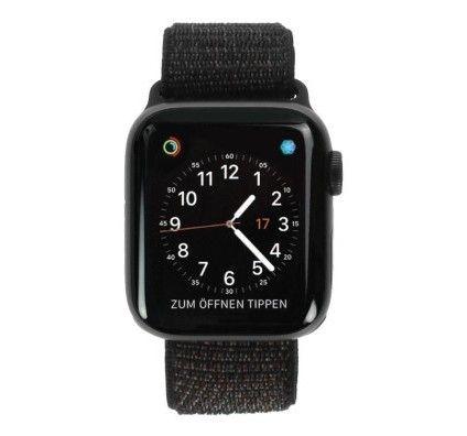 Apple Watch Series 4 - boîtier en aluminium gris 40mm - boucle sport noire (GPS+Cellular)