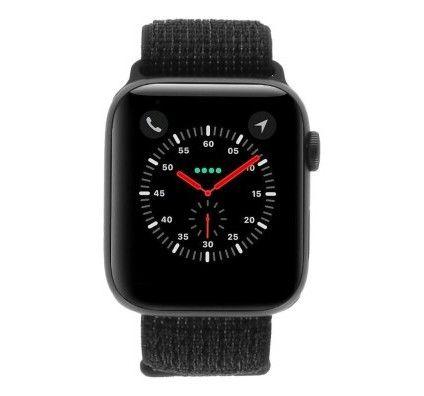 Apple Watch Series 4 Nike+ - boîtier en aluminium gris 44mm - boucle sport noire (GPS+Cellular)