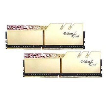 G.Skill Trident Z Royal 16 Go (2x8Go) DDR4 4000 MHz CL17 - Or - F4-4000C17D-16GTRGB