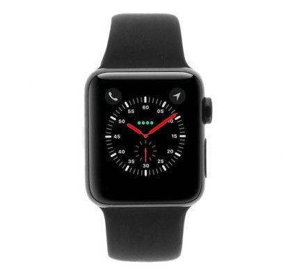 Apple Watch Series 2 - boîtier en acier inoxydable noir sidéral 38mm - bracelet sport noir
