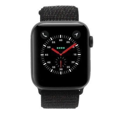 Apple Watch Series 4 - boîtier en aluminium gris 44mm - boucle sport noire (GPS)
