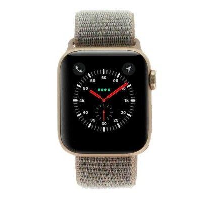 Apple Watch Series 4 - boîtier en aluminium or 40mm - boucle sport rose des sables