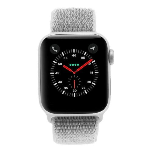 Apple Watch Series 4 - boîtier en aluminium gris 40mm - boucle sport coquillage (GPS+Cellular)