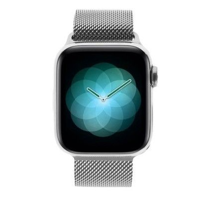 Apple Watch Series 4 - boîtier en acier inoxydable en argent 40mm - bracelet milanais en argent (GPS