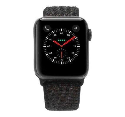 Apple Watch Series 4 - boîtier en aluminium gris 40mm - boucle sport noire (GPS)