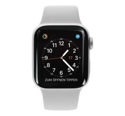 Apple Watch Series 4 - boîtier en aluminium argent 40mm - bracelet sport en blanc (GPS+Cellular)