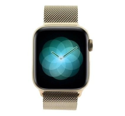 Apple Watch Series 4 - boîtier en acier inoxydable en or 40mm - bracelet milanais rose des sables (G