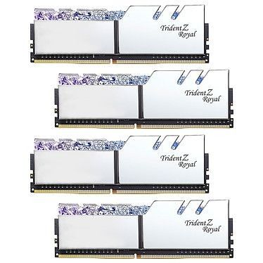 G.Skill Trident Z Royal 128 Go (4x32Go) DDR4 2666 MHz CL19 - Argent